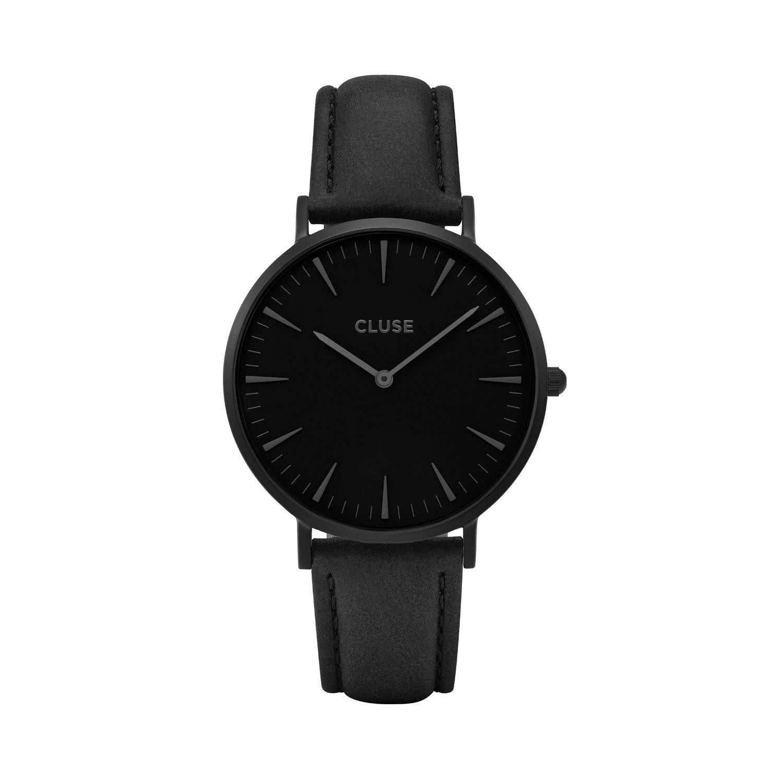 CLUSE La Boh me Full Black CL18501 Women s Watch 38mm Leather Strap Minimalistic Design Casual Dress Japanese Quartz Elegant Timepiece
