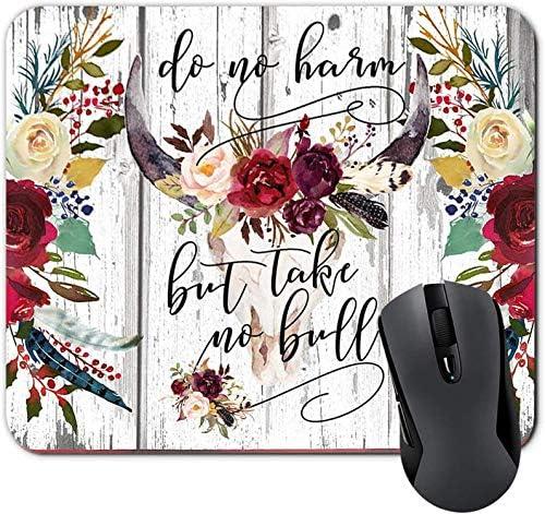Lustiges Zitat Freitag ist Mein zweites Lieblings-F-Wort Lustiges Schreibtischzubehör für die Arbeit Rosa Blumenmousepad Bürogeschenke für Frauen 7 x 8,6 Zoll
