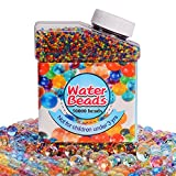 Aweoods Crystal Gel Water Beads Pack (50000 beads) Rainbow Mix Jelly Water Growing Balls for Kids Tactile Sensory Toys, Orbeez refill,Vases Filler, Plants, Wedding and Home Decoration
