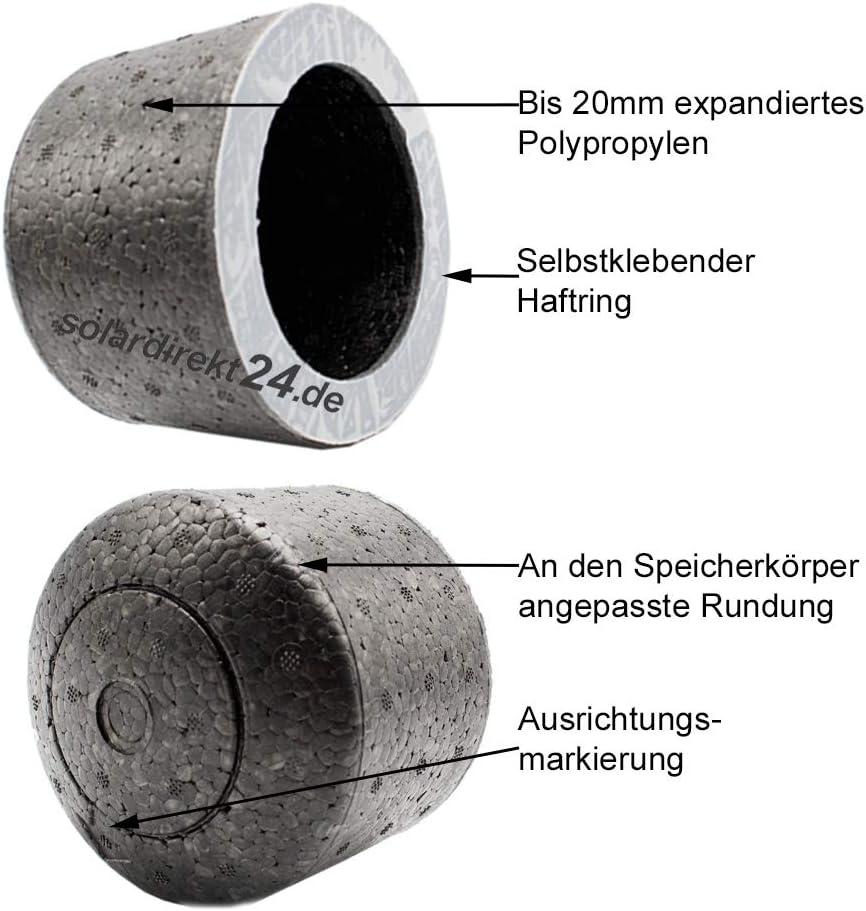 Isolierkappe f/ür Speicheranschl/üsse Pufferspeicher 1//2 bis 2 Zoll