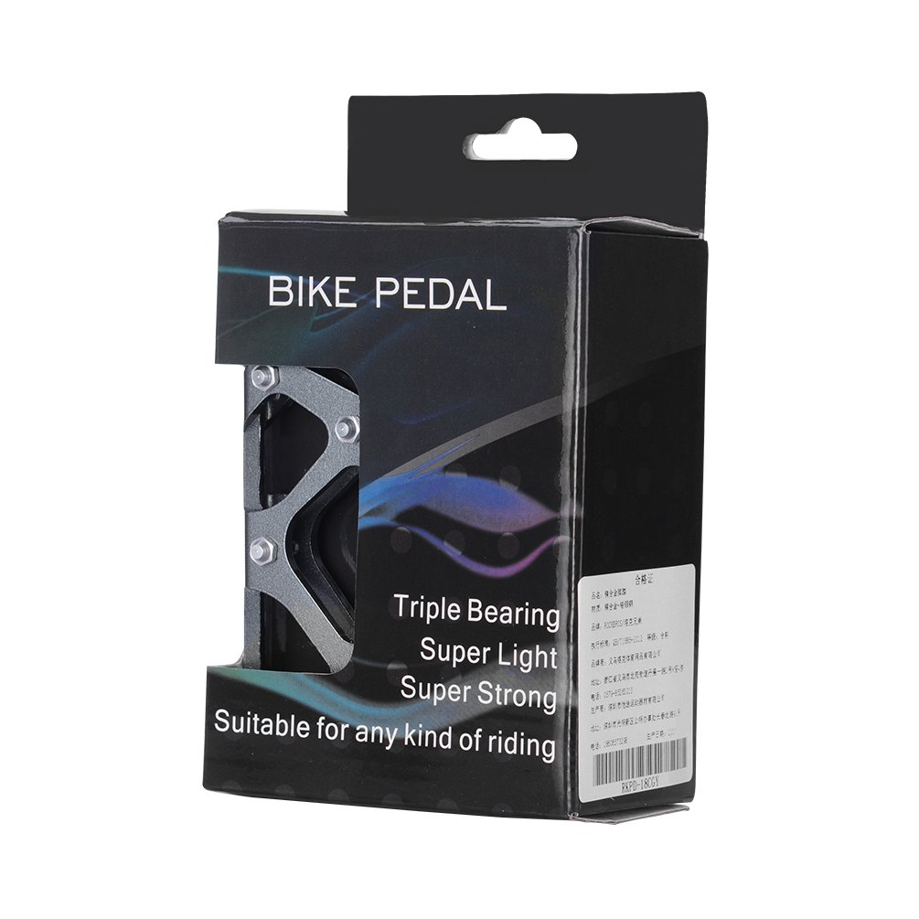 ROCKBROS Pedale Flachpedale Plattform Fahrradpedale Magnesium 3 Sealed Bearings CR-MO Stahl Achse 9//16 Zoll