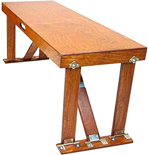 Spiderlegs Folding Bench, 38-Inch, Light Cherry, Set of 2
