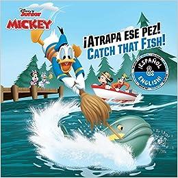 Catch that Fish! / ¡Atrapa ese pez! (English-Spanish) (Disney Junior: Mickey and the Roadster Racers) (Disney Bilingual) Paperback – November 6, 2018