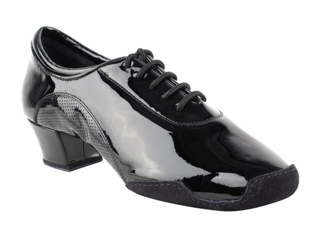 Very Fine Shoes Men's Latin & Rhythm Competitive Dancer Series CD9320 with 1.5'' Heel (8.5, Black Patent Leather)