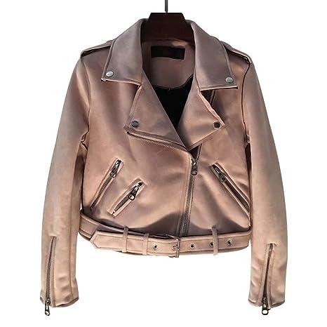 felicove Abrigos para chaquetas de mujer, estrecho cremallera decorativa ante Chaqueta Corta Mujer Chaqueta de