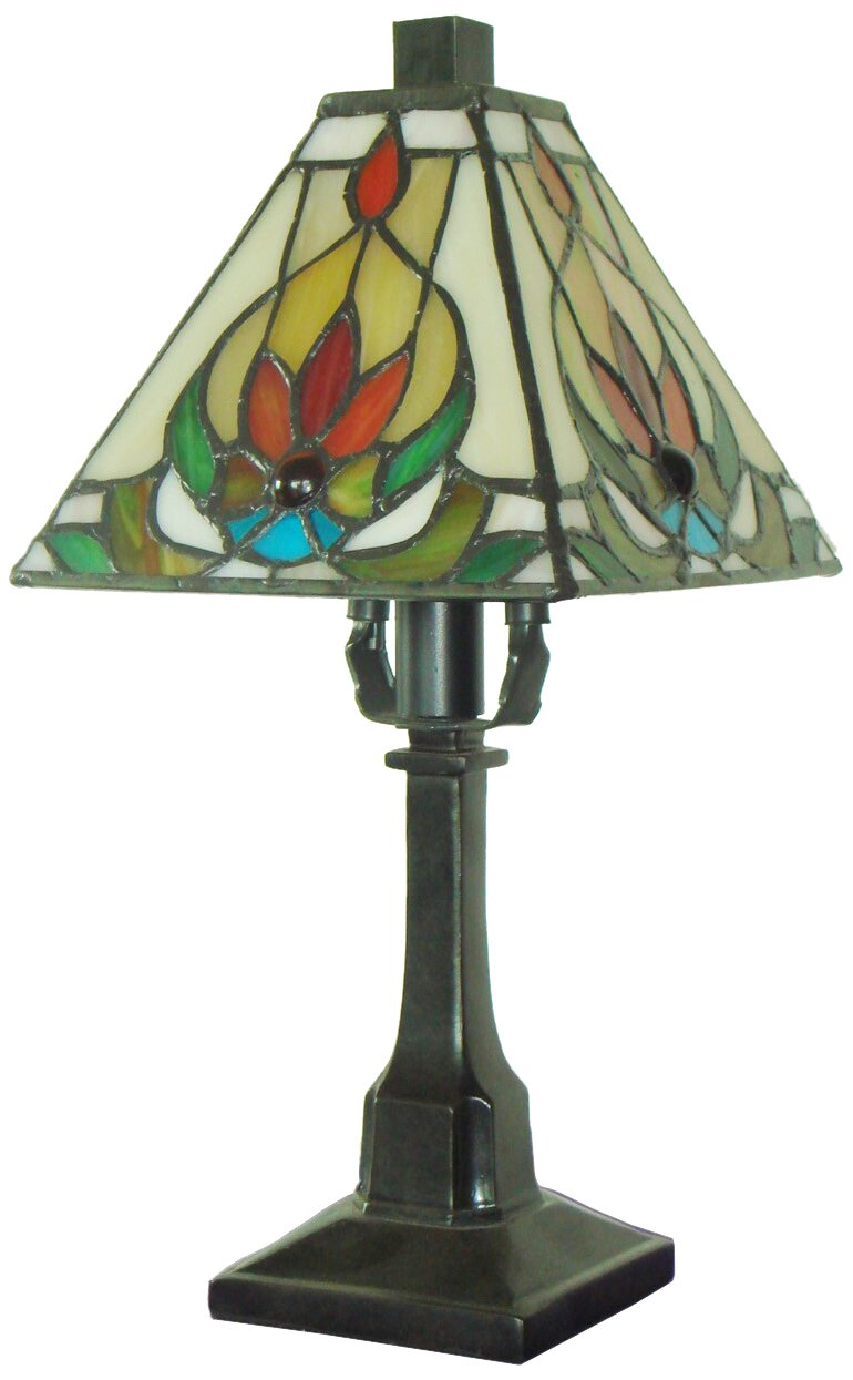 Fine Art Lighting T613 136 Glass Cuts Mini Tiffany Table Lamp, 6 x 12