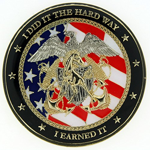 MUSTANG LDO CWO OFFICERS CREST US Navy Challenge Coin