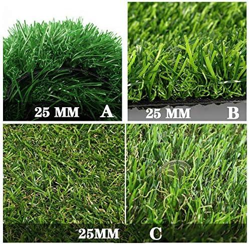 GAPING 人工芝高品質人工芝屋外屋内抗UVペット好きな有毒な無料で安全な高さ25mm 3色 (Color : A, Size : 1x2m)