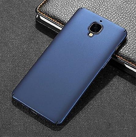 Protecteur d/écran en Verre tremp/é, Anti-Rayures /Étui en Plastique Anti Empreintes digitales Housse Bleu Ultra Mince /& L/éger enti/èrement Protecteur Dur Case One Plus 3T// OnePlus 3 Coque