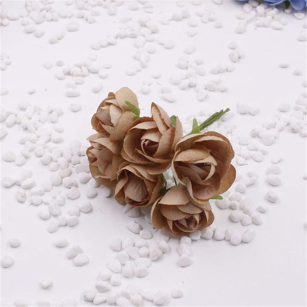 PPL21 60個/ロット 2.5cm シルク造花 ティローズの花 ウェディングデコレーション用 DIY リースギフトボックス スクラップブック クラフトフェイク フロー。 B07HDPBQMG 7