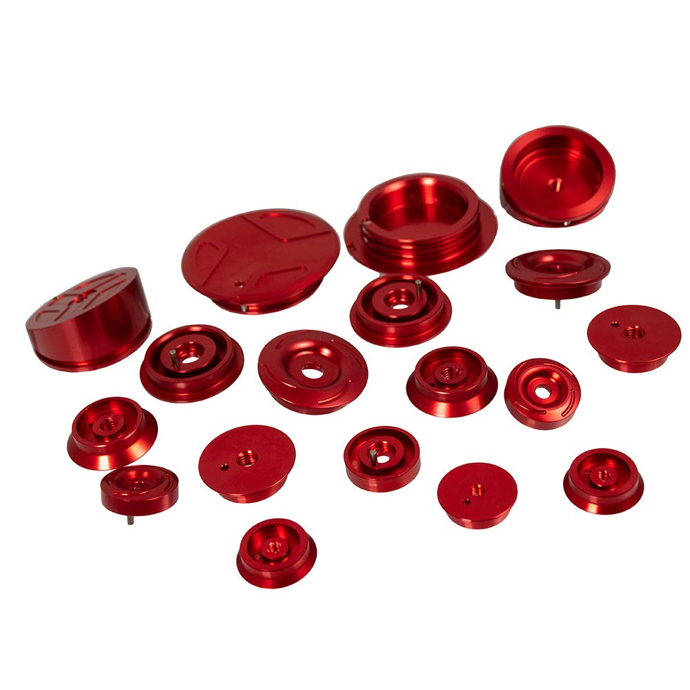 Nawenson Motorcycle Frame Plug Kit Aluminum Frame End Caps for R1200GS LC 2013-2018 for R1200GS LC Adventure 2014-2018 for R1250GS//ADV 2019 Red