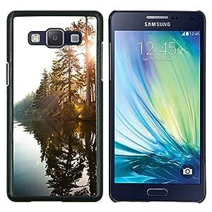 EJOOY---Cubierta de la caja de protección para la piel dura ** Samsung Galaxy A5 A5000 ** --Lago del Sol a través de árboles