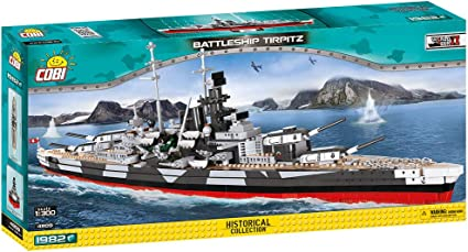 Historical Collection Battleship Bismarck Second World War Building Bricks Toy