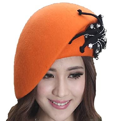 2d5ef0937 Amazon.com: June's Young Fashion Winter Hat Wool Hats for Women ...