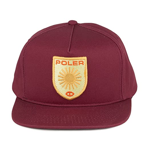 9d5805ee53d Poler Hats D Patches Snapback Cap - Red Adjustable  Amazon.co.uk  Clothing
