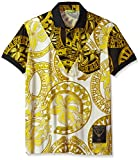 Versace Jeans Men's Gold Printed Polo, Bianco, 48 (Small)
