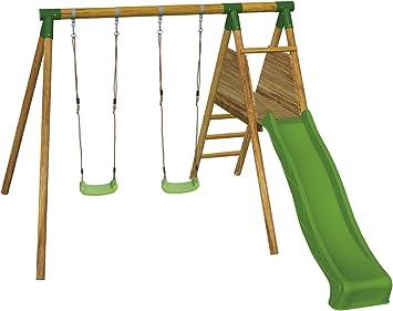 MASGAMES Parque Infantil con Columpio y tobogán Mauna Loa: Amazon.es: Juguetes y juegos