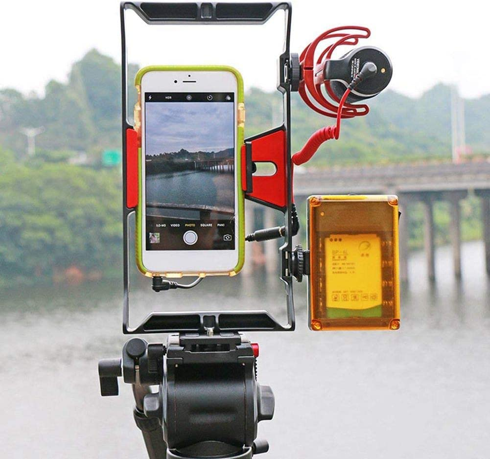 Vaorwne Cage Rig Stabilizer Smartphones Video Film Production Double Handle
