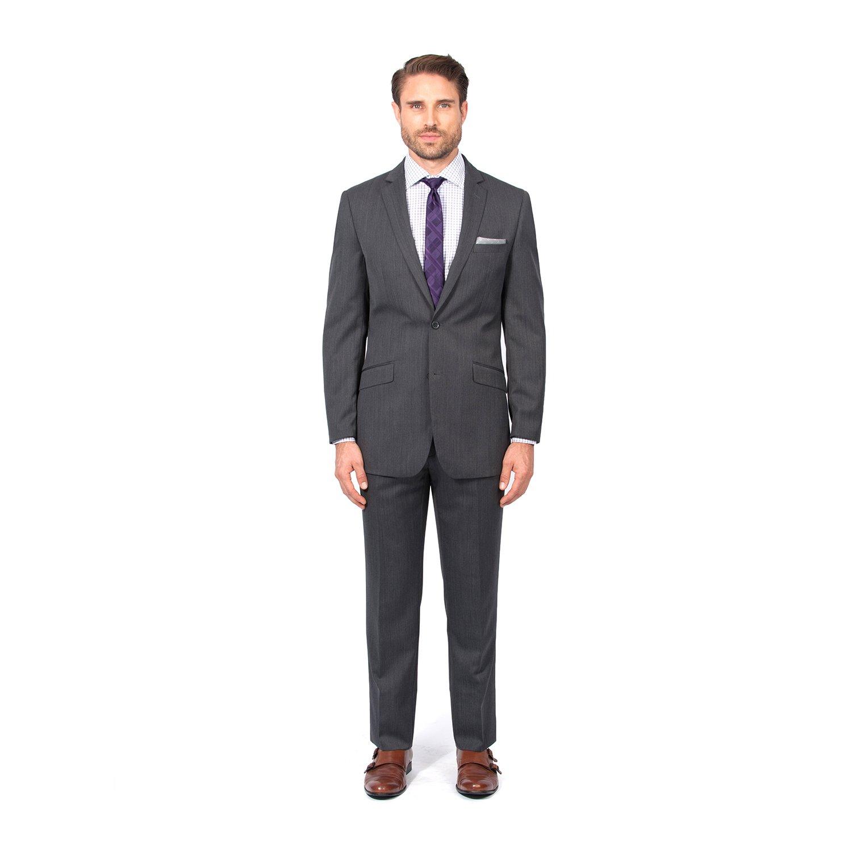 Combatant Gentlemen Men's Charcoal Slim Fit Suit 38 Long Charcoal by Combatant Gentlemen (Image #3)