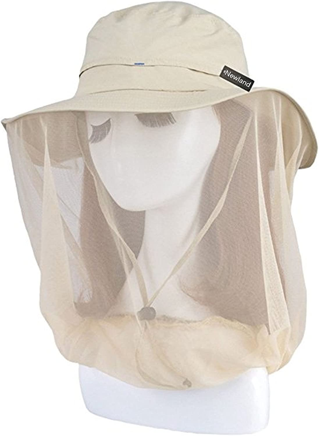 Newland Mosquito Head Net Hat, Outdoor UPF 50 Sun Hat Bucket Hat with Net Mesh Protection from Bee Mosquito for Outdoor or Women or Fishing