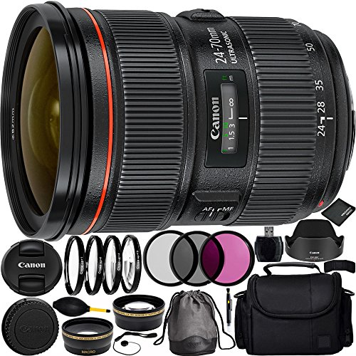Canon EF 24-70mm f/2.8L II USM Lens Bundle