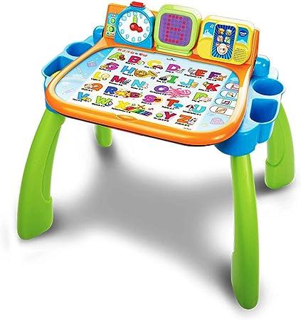 Cajas de música Mesa táctil multifuncional Bebé Mesa de lectura bilingüe Juego de juguetes para niños Juego de rompecabezas Educación temprana Juguetes para niños de 3 a 6 años Aprendizaje de juguetes:
