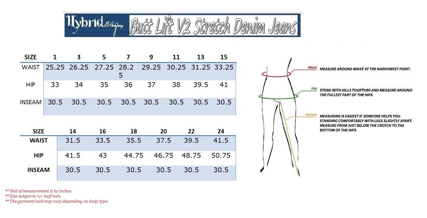 HyBrid & Company Women's Butt Lift V2 Super Comfy Stretch Denim Jeans P43637SK Olive 13 by HyBrid & Company (Image #3)