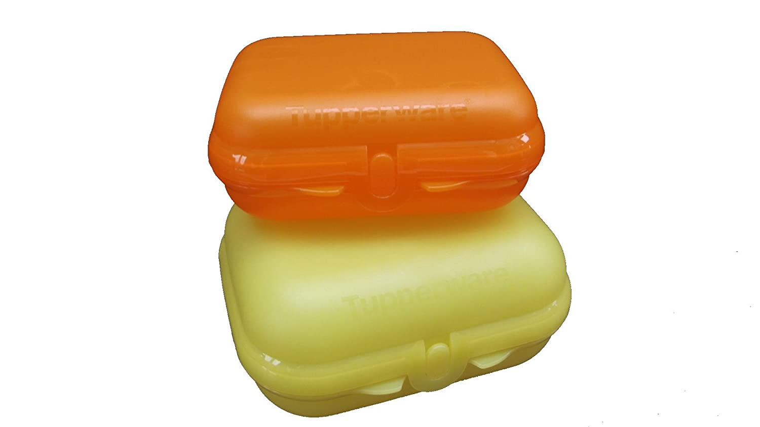1a TUPPER A26 Twin-Set Schulbrotdosen-Set TWINS --- gelb-orange Tupperware