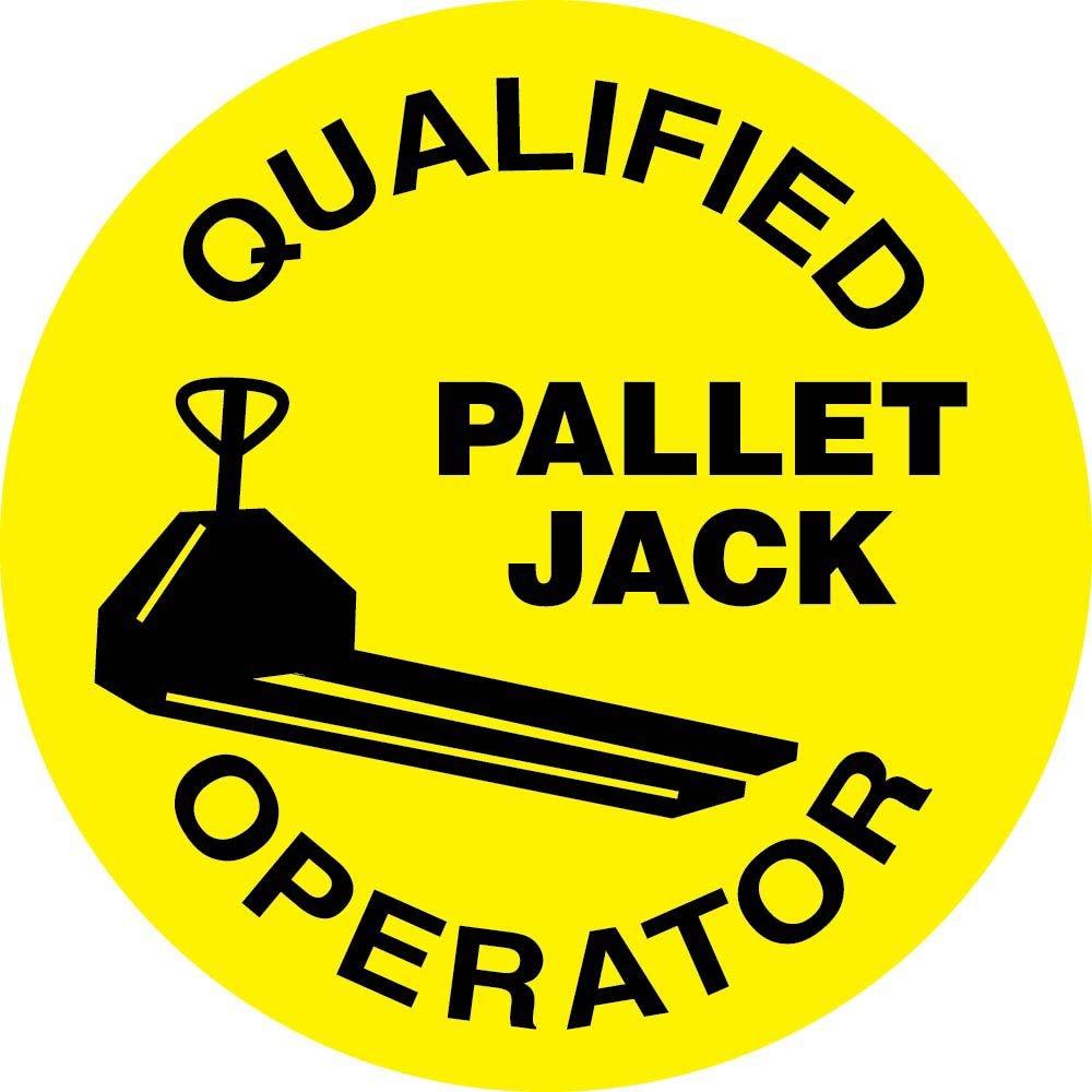 HH85 Qualified Pallet Jack Operator Hard Hat Emblem National Marker Corp