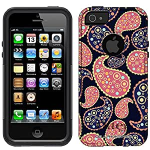 Otterbox Commuter Paisley Peach Blue on Navy Case for iPhone 5