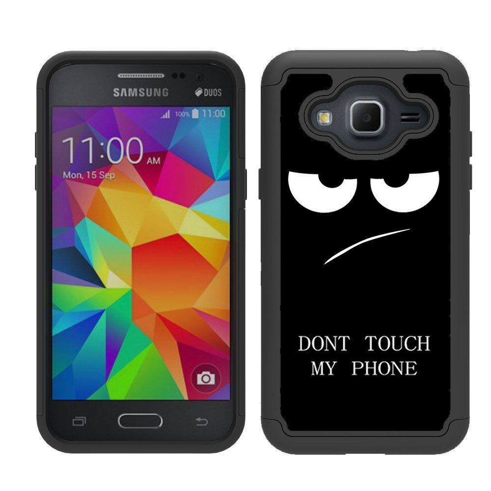 purchase cheap e20be 7d8ee Galaxy J3V Case, J3 Case, J36V Case, Skmy Shockproof Impact Hybrid Dual  Layer Defender Protective Cover Rugged Armor Case for Samsung Galaxy  Sol/Sky, ...
