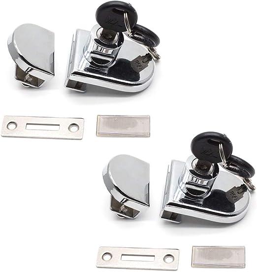 VNDEFUL 2 Pcs Drawer Display Case Showcase Sliding Glass Door Lock w Keys