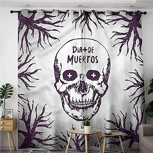 AndyTours Blackout Curtains,Mexican Spooky Gothic Halloween,Energy Efficient, Room Darkening,W108x108L]()