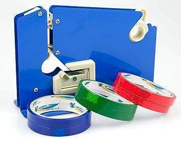 Dispensador de cinta de plástico para máquina con 6 rollos: Amazon.es: Oficina y papelería