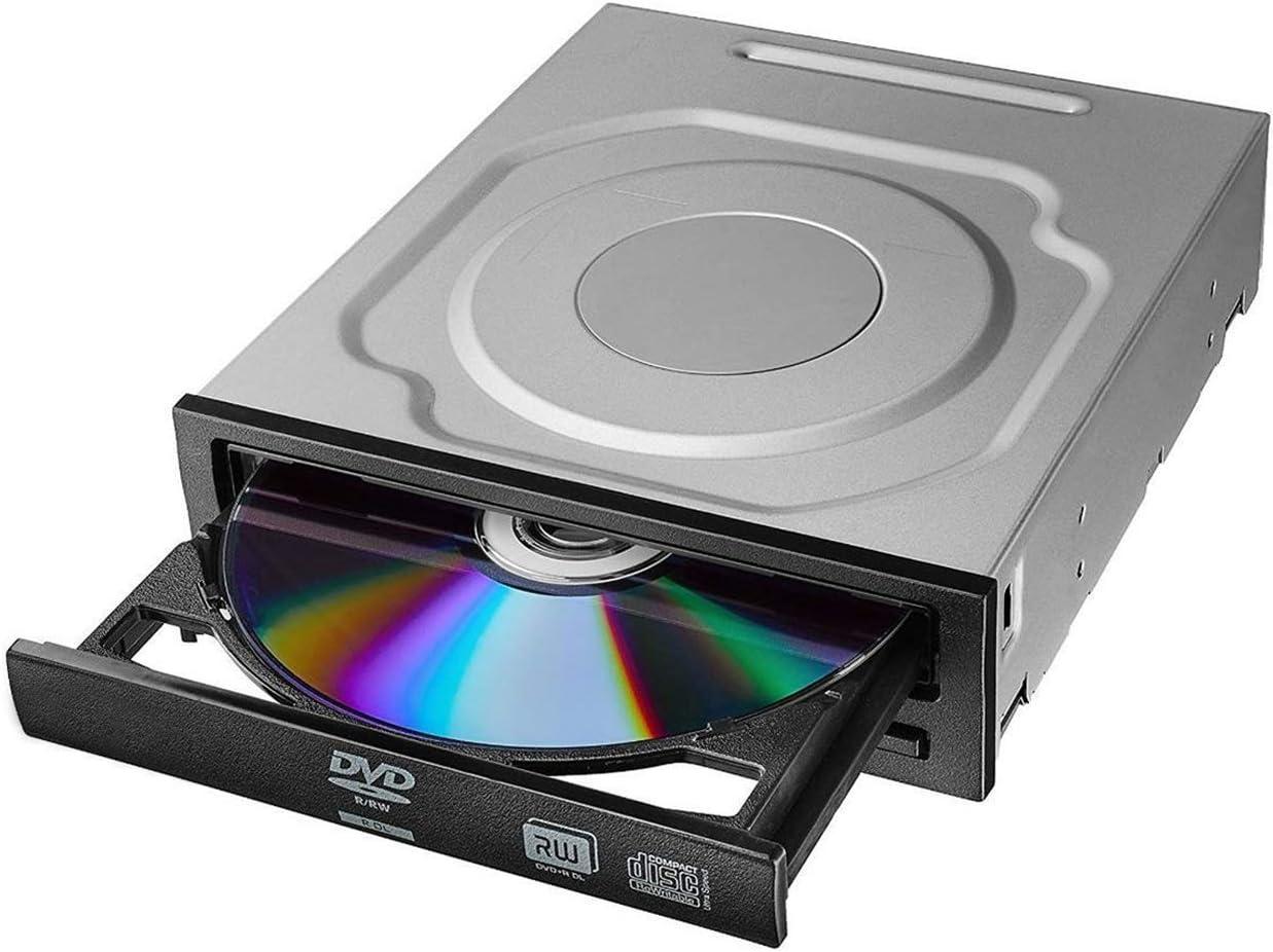 OSGEAR Desktop PC Internal DVDRW SATA 24x DVD 56x CD ROM Built-in DVD Optical Drive Device Tray Loading Reader Writer Burner Support Windows XP 7 8 10