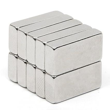 fortag 10 piezas rectangular fuerte Imanes de neodimio NdFeB ...