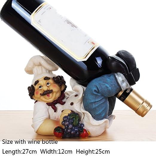 Aich Vino Estante decoración,Mesa Resina de Personalidad Vino ...