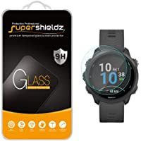 (2 Pack) Supershieldz for Garmin Forerunner 245 and Forerunner 245 Music Tempered Glass Screen Protector, Anti Scratch, Bubble Free