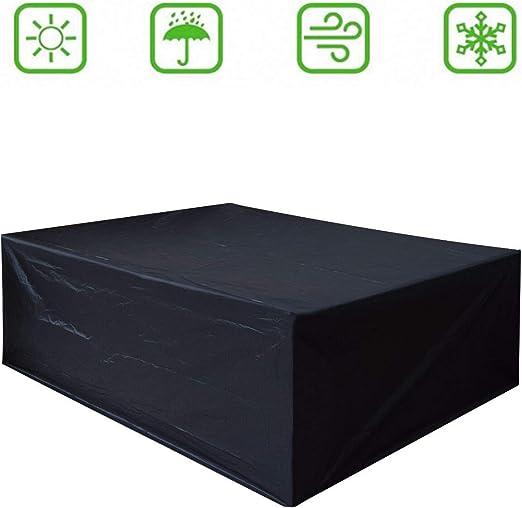 Dellcciu Funda para Muebles de jardín, 420d Oxford de Lona abdecke para Mesa y sillas, Exterior, Impermeable, Rectangular: Amazon.es: Jardín