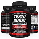 TESTOBOOST Test Booster Supplement | Potent & Natural Herbal Pills | Boost Muscle Growth | Tribulus, Horny Goat Weed, Hawthorn, Zinc, Minerals| BioScience Nutrition USA