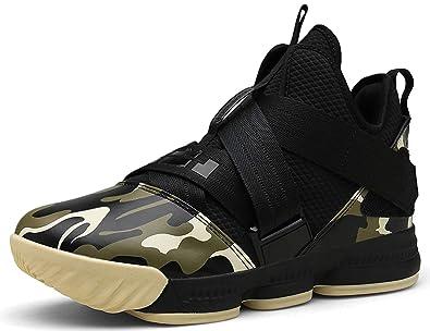 SINOES Hombre Mujer Zapatillas de Baloncesto Calzado Deportivo Al Aire Libre Moda High-Top Sneaker Antideslizante Zapatillas de Deporte Ligeros ...