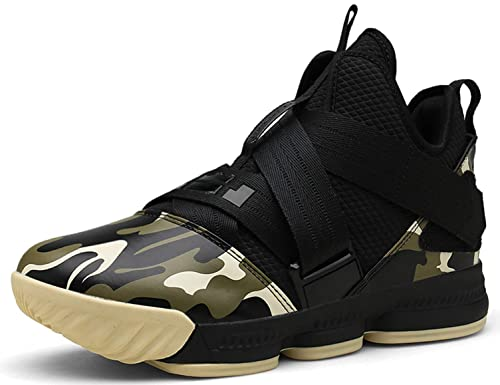 SINOES Hombre Mujer Zapatillas de Baloncesto Calzado Deportivo Al Aire Libre Moda High-Top Sneaker Antideslizante Zapatillas de Deporte Ligeros Zapatos para ...