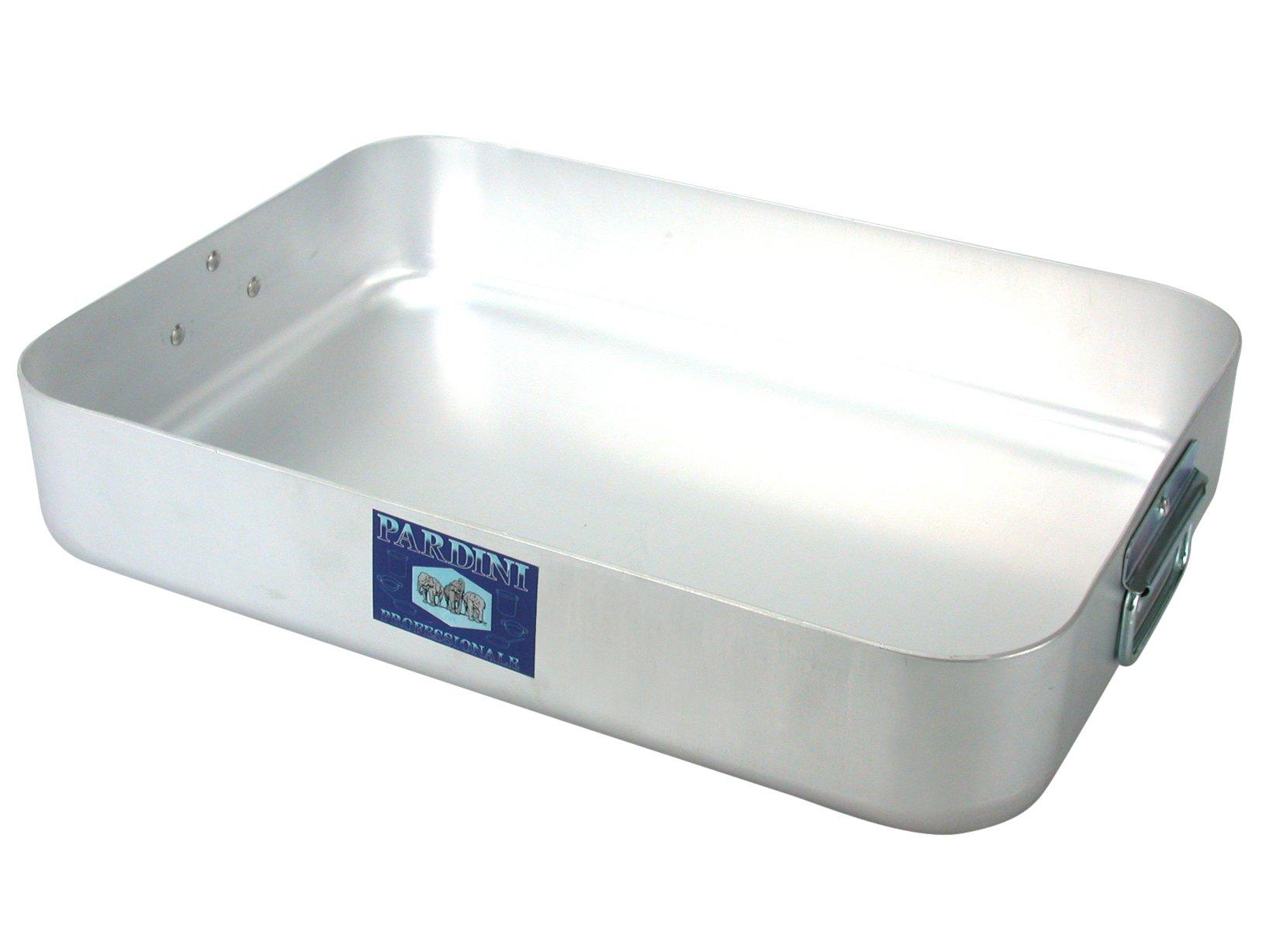 PARDINI Omnia Deep Roasting Dish, Aluminium, Grey, 70 cm