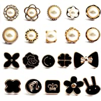 20 Piezas Mujer Camisa Broche Botones, Broche de Seguridad para Camisa, Botones de Exposición Accidental, para Bolsas…