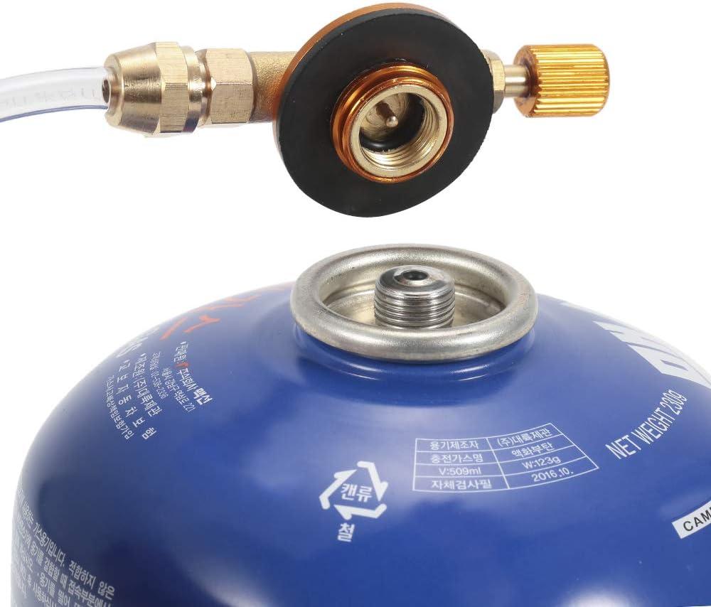 Lixada Adaptador para Estufa de Gas GLP Acoplador de Cilindro Plano Adaptador de Estufa de Camping de Recarga de propano