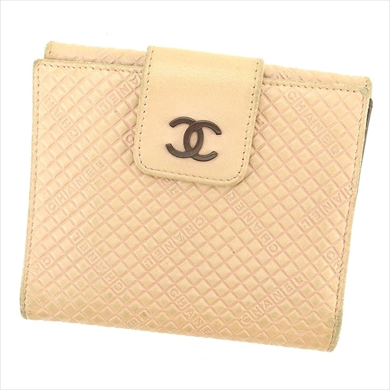 [シャネル] CHANEL Wホック財布 二つ折り 財布 レディース 中古 T1617 B0772Q1Y1J