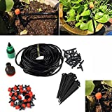 Toolbit Watering Irrigation Kit, Patio Plant Watering System Kit 4/7 Tube DIY Garden and Watering Drip Kits Set for Garden Greenhouse, Flower Bed,Patio,Lawn