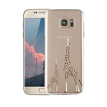Funda Samsung Galaxy S7 Edge Transparente,Dibujos Animados, Anti-Rasguño, Resistente Huellas Dactilares Blossom01 Ultra Fina de Gel de Silicona TPU ...