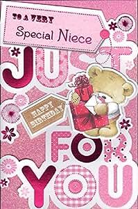 "tarjeta de cumpleaños para sobrina Special - ""A un Very Special sobrina A solo para ti"""