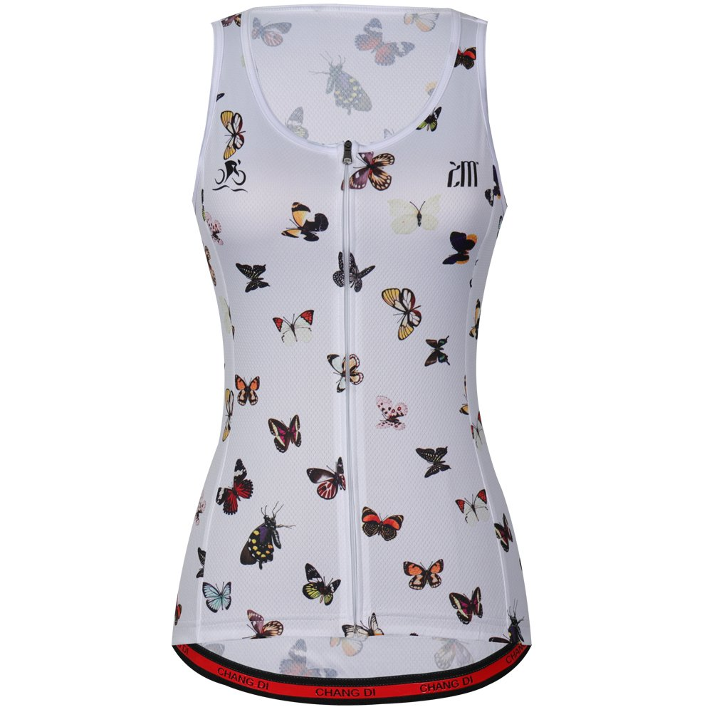 Cycling Sleeveless Jersey Vest Women/Bicycle Cycle Summer Vest Women/Breathable Bike Vest Sleeveless (M, 10)